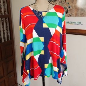Westbound multicolor asymmetric top. Size L NWT!
